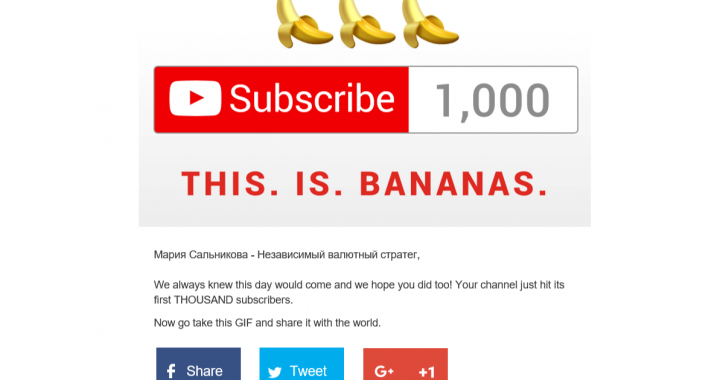 My YouTube channel crossed 1k subs!